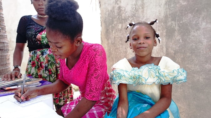 start of the school year for restavek girls in port au prince