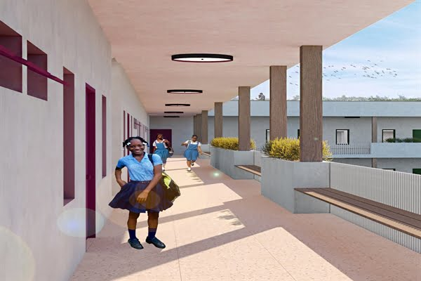 rendering of the Residential school in haiti for restavek