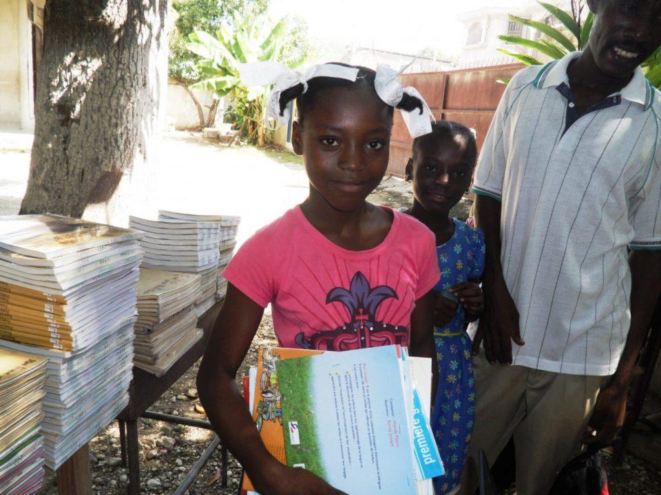 textbooks distribution Haiti restavek